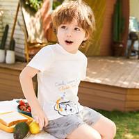 精典泰迪男女童纯棉短袖套装婴幼儿2件套