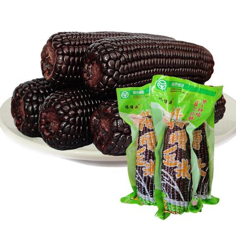 黑糯玉米绿色认证真空包装 非冻半熟玉米棒 代餐早餐减肥健康主食杂粮依博源