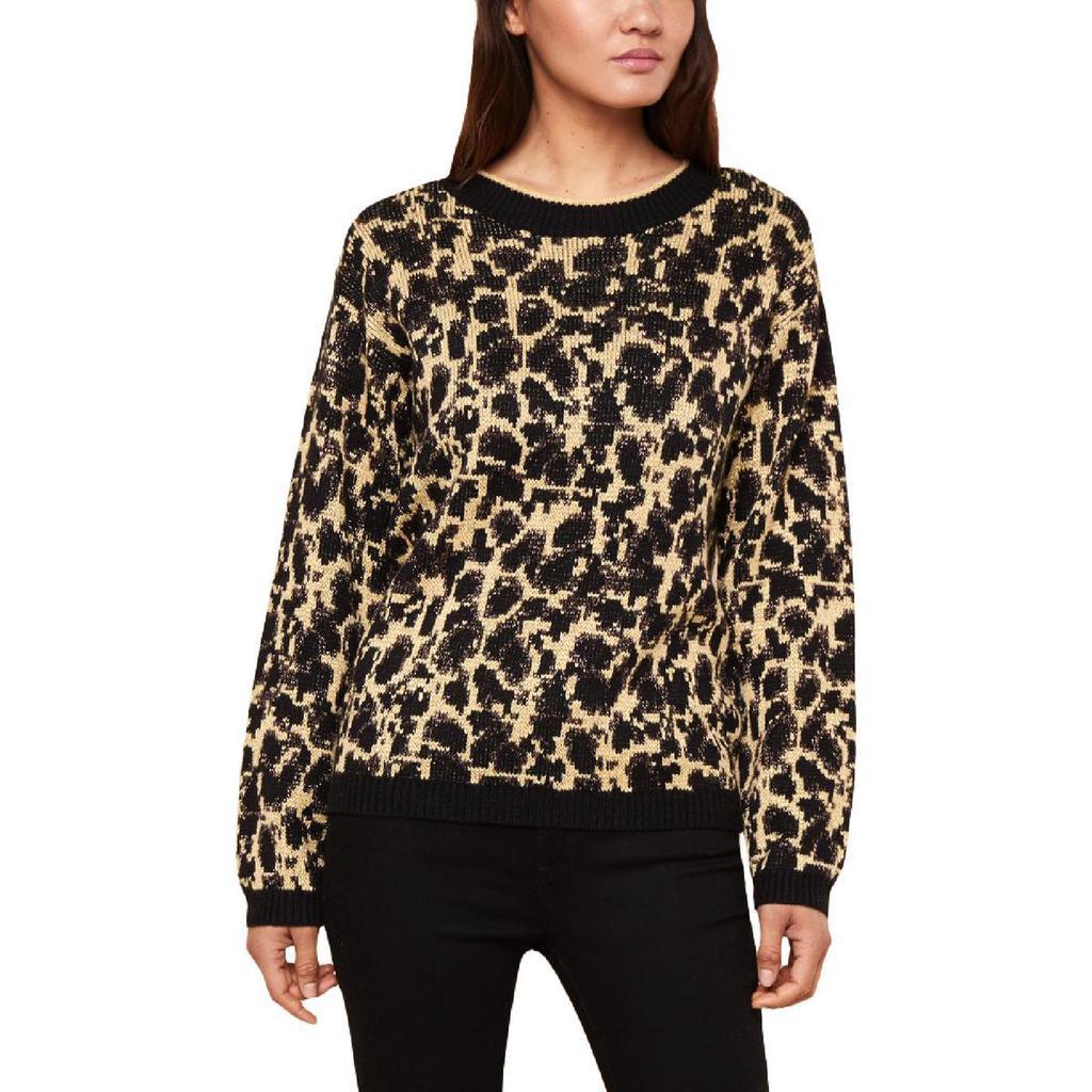 Juicy Couture Women's Metallic Leopard Print Pullover Sweater