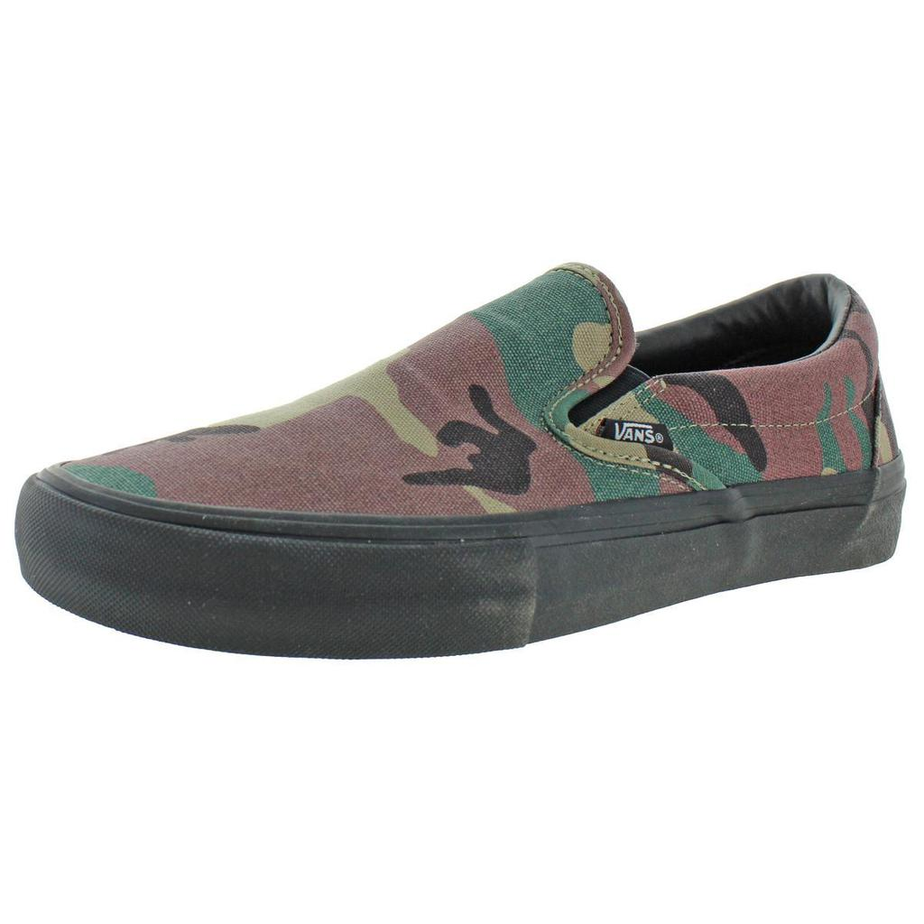 Vans Mens Slip-On Pro Camouflage Flats Casual Shoes