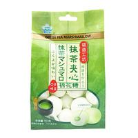 愛億華 抹茶夾心 棉花糖 90g 網紅小零食糖果休閑食品