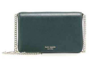 Kate Spade Ladies Green Leather Spencer Chain Wallet