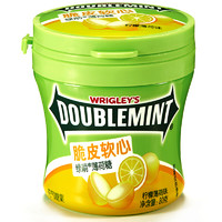 DOUBLEMINT 绿箭 脆皮软心 薄荷糖 柠檬薄荷味 80g 单瓶装