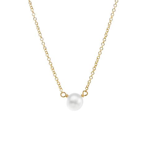 DOGEARED多琪儿欧美优雅简约异形珍珠吊坠项链女925纯银锁骨链