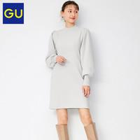 GU极优女装金银线针织连衣裙气质显瘦针织连衣裙女中长款冬327594