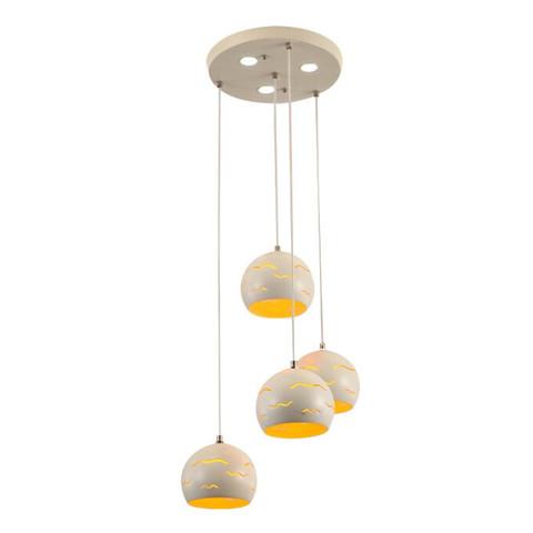 飞稳 北欧餐厅灯四头创意个性led餐吊灯 灵感 28W三色变光 *3件