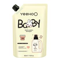 YEEHOO 英氏 英氏(YEEHOO)婴儿洗衣液新生儿童去污清洁洗涤剂柔衣护色儿童洗衣液500ml