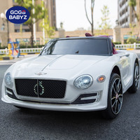 Gogo Babyz JE1166 賓利四驅兒童電動車 珍珠白【遙控+音樂搖擺+四核驅動+皮座椅】