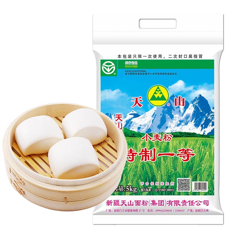 天山 新疆面粉特一粉 家用包子馒头拉条子中筋通用小麦粉 5kg *6件