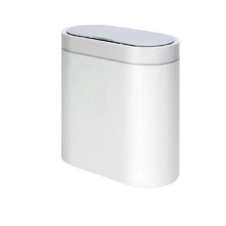 佳佰 DP101 智能椭圆形垃圾桶 电池款 8L 白色
