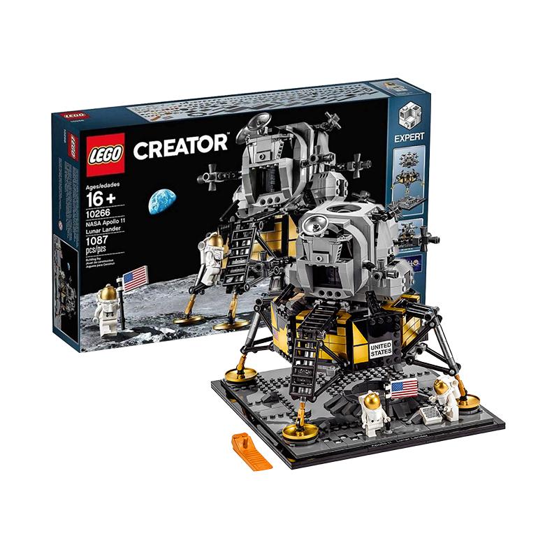 女神超惠买、考拉海购黑卡会员 : LEGO 乐高 创意系列 10266 阿波罗11号登月舱