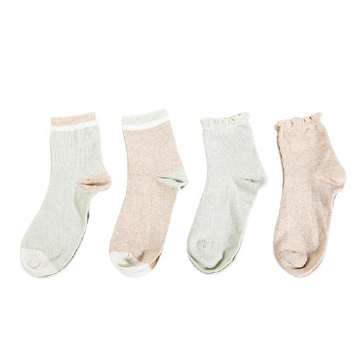 LEYUN 乐孕 ly3001 孕产妇彩棉中筒袜 4双装