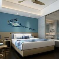 海南博鳌亚洲湾国际大酒店豪华海景房2晚(含早餐+红珊瑚小火锅+水乐园门票2张)
