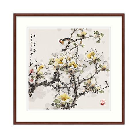 新中式背景墙装饰画国画 陈永锵《玉堂春》