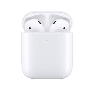 Apple 苹果 AirPods 2 半入耳式真无线蓝牙耳机 有线充电盒版 白色