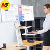 NB 站立办公升降双屏工作台 双托盘办公桌 双屏家用工作台 可移动升降式电脑书桌 桌面显示屏支架 ST35-2A白