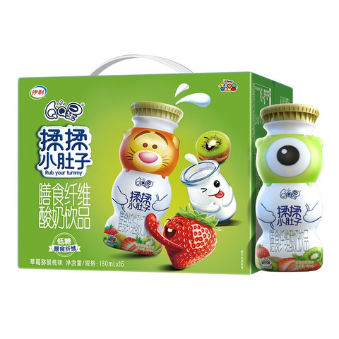 限地区:yili 伊利 儿童酸奶饮品 草莓猕猴桃味 180ml*16盒
