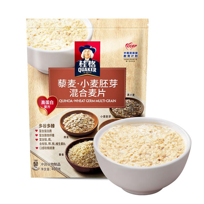 QUAKER 桂格 藜麦 小麦胚芽 混合麦片 400g
