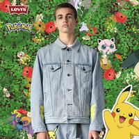 Levi\'s® x Pokémon 联名系列 男士宝可梦卡通刺绣牛仔夹克