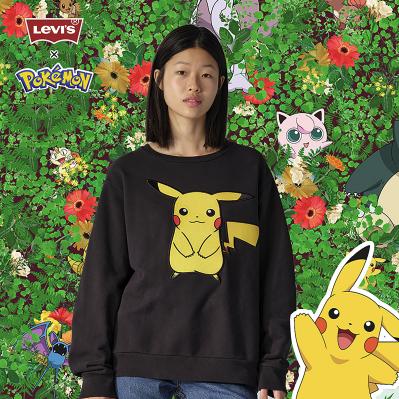 女神超惠买、补贴购 : Levi's 李维斯 Pokémon联名系列 男女同款卫衣