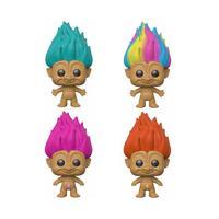Pop Trolls Good Luck Trolls Collectors Set 1 - Teal Troll, Rainbow Troll, Pink Troll, Orange Troll