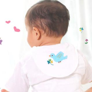 Purcotton 全棉时代 婴儿吸汗巾 小猫+小兔+小鸟 3条装