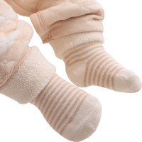 象寶寶(elepbaby)嬰兒襪子 秋冬加厚款彩棉條紋襪 4雙盒裝 14-16CM(2-3歲) *4件