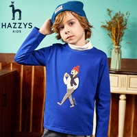 HAZZYS 哈吉斯 男童长袖T恤