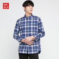 UNIQLO 优衣库 436431 男装优质长绒棉格子衬衫