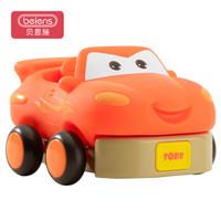 贝恩施儿童玩具宝宝卡通防摔玩具车男孩女孩玩具咔宝强力后轮驱动回力车橙色T1
