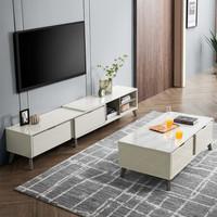 1日0点:CHEERS 芝华仕 PT020 现代极简钢化玻璃可伸缩电视柜