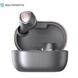 SoundPEATS Sonic 真无线蓝牙耳机 音乐耳机 入耳式HIFI音质 适用苹果华为小米手机 银灰色 *2件