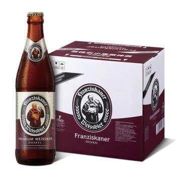 范佳乐(原教士)大棕瓶 德国小麦黑啤酒 450ml*12瓶 整箱装 世界啤酒大赛金奖 *2件