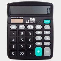 M&G 晨光 ADG98837 双电源计算器 送电池+1支中性笔