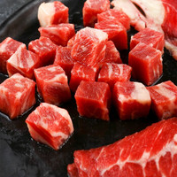 原切和牛M4+雪花牛肉粒300g(谷饲400+天)/U.S.Prime级雪花肥牛288g(另有羔羊肉卷可选) *3件