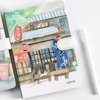 LENWA 联华 韩版创意磁扣旅行手帐本 寿司店封面 *5件