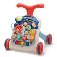 盟石婴儿玩具学步车 儿童手推车玩具多功能音乐面板二合一男女孩早教玩具新年礼物 5095蓝色 *2件