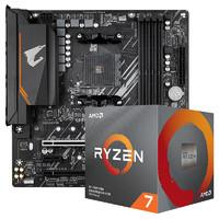 GIGABYTE 技嘉 B550M AORUS ELITE 主板 + AMD 锐龙 Ryzen 7 3700X CPU处理器 板U套装