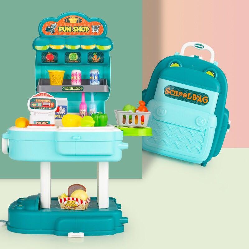 益米 儿童仿真过家家超市收银机玩具 2合1书包 +凑单品