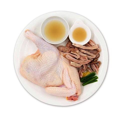 依禾农庄 猪肚鸡配料黑猪肉内脏生鲜火锅 猪肚1.5斤+清远鸡1只约2斤 *2件