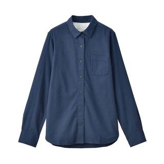 MUJI 无印良品 女士法兰绒长袖衬衫 W9AC506