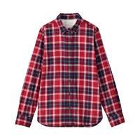 MUJI 无印良品 W9AC506 女士法兰绒衬衫