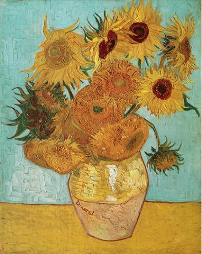 梵高静物花卉《向日葵》油画 背景墙装饰画挂画 92×114cm