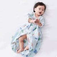 WELLBER 威尔贝鲁 婴儿防踢睡袋 小橘子(前四后二纱布)