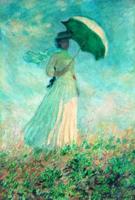 雅昌 现代简约北美式欧式名人油画《阳伞下右转身的女人》 79×113cm