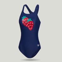 Speedo/速比涛 游乐果系列 亲子款 女子连体泳衣 草莓水果印花 34 深蓝色/红色 812523F244 *3件