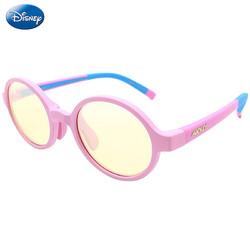 迪士尼(Disney)儿童防蓝光眼镜手机电脑护目镜男女通用5-12岁 粉色 +凑单品