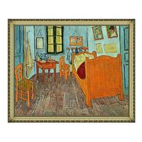 现代简约北美式欧式梵高名人油画《梵高的卧室》57*68cm