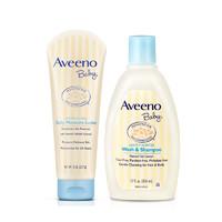 Aveeno艾维诺 燕麦婴儿保湿润肤乳227g+洗发沐浴露354ml