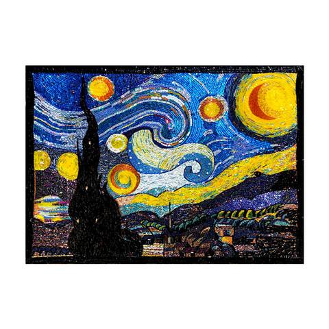 艺术品:MO 非遗纯手工珠绣装饰画《星空》珠绣 纯手工 背景墙挂画